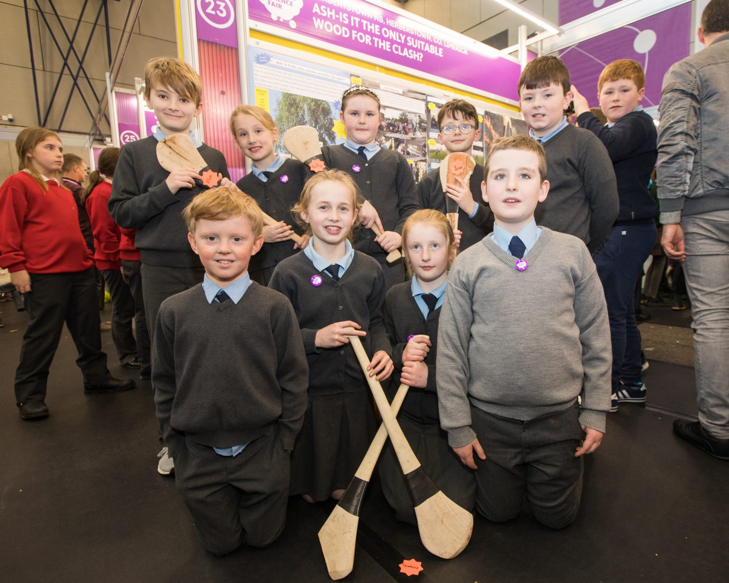 Herberstown NS, Herberstown, Co. Limerick at this years RDS Primary Science Fair Limerick which will see over 3000 primary school students from all over the country exhibit theirSTEM investigations at Mary Immaculate College. Between the three venues of Limerick, Dublin and Belfast there will be over 7000 participants in 2018. Photo: Oisin McHugh True Media